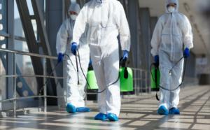 コロナウイルス洗浄風景